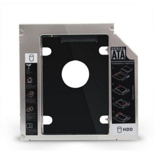 12.7mm Universal 2.5 2nd 12.7mm Ssd Hd SATA Hard Disk Drive HDD Caddy Adapter Bay For Cd Dvd Rom Optical Bay