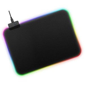 30 x 25 CM Multicolor LED Luminous Gaming Mouse Pad RGB Oversized Glowing Keyboard Mat