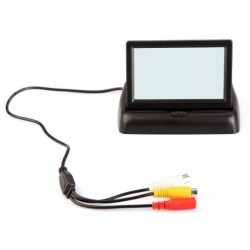 """4.3"""" Foldable TFT Color LCD Car Reverse Rearview 16:9 4.3 inch car Security Monitor for Camera DVD VCR 12V"""