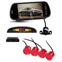 7 Inch TFT LCD Car Mirror Monitor With Reverse Camera, Indicator And Red Color Sensors
