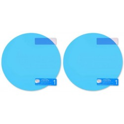 ACE Select Car Side View Mirror Waterproof Anti-fog Film - Anti-glare Anti-mist 13.5cm Oval Protector Sticker - To See Outside Rearview Mirror Clearly in Rainy Days (Round)