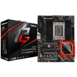 ASROCK Socket TR4 AMD X399, with Chips ATX Gaming Motherboard X399 Phantom Gaming 6