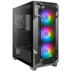 Antec Case Dark League Flux 3x120m ARGB 2x120m Black Fans TG Side Panel Mid Tower ATX Gaming