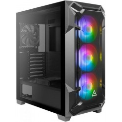 Antec Case Dark League Flux 3x120m ARGB TG Side Panel With PSU 650W Bronze Mid Tower ATX Gaming USB3 360M