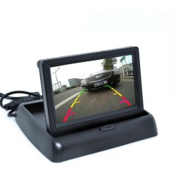 Auto Parking Assistance 4LED Night Vision Car CCD Rear View Camera Color LCD Video Monitor Camera