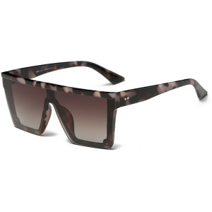 DONNA Cool Unisex Oversized Flat Top Sunglasses Square Aviator Shades D89-DQ11(Tortoise Shell)