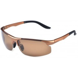 Driving TR90 Aluminum Magnesium Polarized square Sunglasses for male -sss