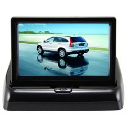 Foldable 4.3 Inch TFT LCD Car Monitor with Rear Backup Camera for Vehicle Reversing Parking System