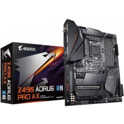 GIGABYTE Z490 AORUS PRO AX ‫(Intel LGA1200/Z490/ATX/Intel 2.5G LAN/Direct 12 Phase Digital Power/Dual M.2/SATA 6Gb/s/USB 3.2 Gen 2/Intel WiFi 6/Fins-Array II/Gaming Motherboard)
