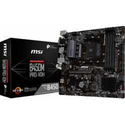 MSI B450M PRO-VDH Motherboard AMD Ryzen 1st and 2nd Generation Ryzen Motherboard