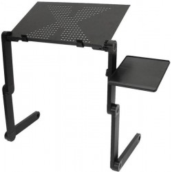 adjustable folding laptop table with cooling holes mouse board easy use for bed sofa
