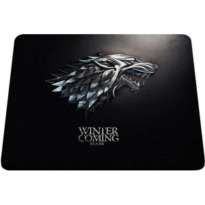 25x20 Game Of Thrones Mouse Mat with the Winter is coming Stark Premium Quality Thick Rubber Mouse Mat Pad Soft Comfort Feel Finish