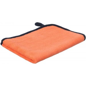 Al Hayah Double-Faced Microfiber Car Cleaning Towel, 30×40 centimeters - Grey and Orange