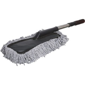 Auto Best Car Wash Brush with Plastic Handle Scalable - Grey