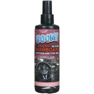 Boom Dashboard Cleaning Wax with Sponge, 250 ml - Bubble Gum