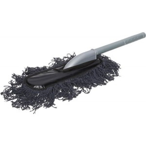 Car Cleaning Brush with Scalable Plastic Handle - Dark Grey