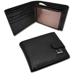 Leather wallet mens Horse imperial black