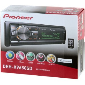Pioneer DEH-X9650SD(CD RDS Tuner with SD support, MIXTRAX, Mixtrax EZ, iPod/iPhone and Android control, dual USB, Aux-In, SD and 3 Pre-outs -Large-Dot Display)